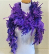 Purple-Plum Chandelle Feather Boa - Red Hat Lady Accessory