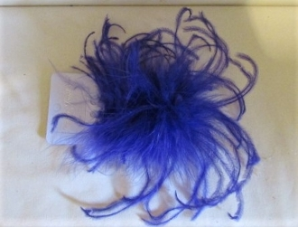 Purple Ostrich - Marabou Feather Pin - Red Hat Ladies