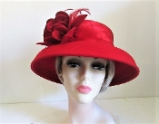 Red on Red Felt Red Hat Society Hat