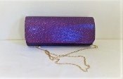 Purple Shimmering Evening Clutch Bag - Red Hat Fashion Accessory