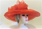 Over The Top Organza Hat - Red Hat