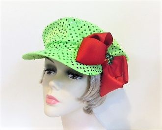Red Hatter Green Sequin St. Patrick Day Newsboy Cap