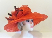 Opulent Organza Hat - Red Hat