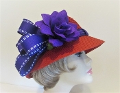 Casual Cloche Straw Red Hat - Red Hat Lady Accessory