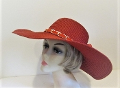Soft Subtle Red Straw Hat - Red Hat