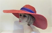 Beautiful Bow Red Hat - Red Hat Society Ladies Hat