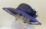 Purple Panache Hat - Ladies Purple Hat