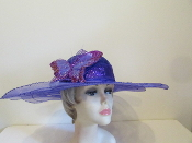 Bejeweled Butterfly Purple Hat - Red Hatters