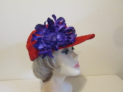 Bubbly Blossom Baseball Cap - Red Hat Ladies