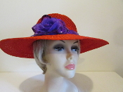 Festive Flower Red Hat - Red Hat