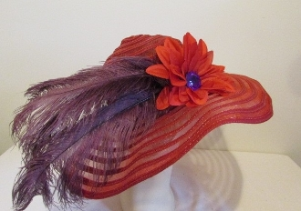 Darling Dahlia Red Hat - Original Red Hat Society Colors