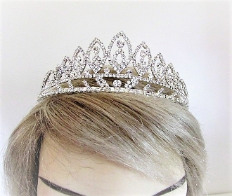 Rhinestone Tiara - Crown - Red Hat Society Queens Regalia