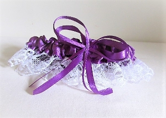 Purple Garter - Red Hat Lady Accessory