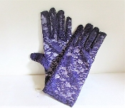 Purple Lace Wrist Length Gloves - Red Hatter Accessory