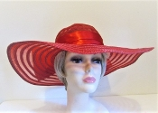 Big Bow Elegant Red Hat - Red Fashion Hat
