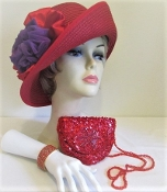 Fancy Flapper Red Hat Ensemble - Red Hat Society Ladies