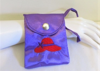 Red Hat Wrist Pouch - Coin Purse - Red Hat Society Colors