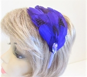 Purple Feather Head Band - My Red Hat Store Exclusive