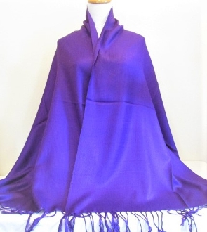 Purple - Pashmina- Shawl - Scarf - Red Hat Accessory