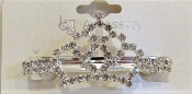 Silver Crown Barrette - Red Hatter Royalty