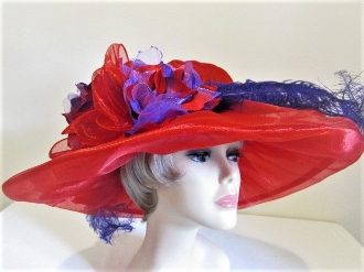 Tempting Tiffany Red Hat - Red Hat Society Ladies Hat