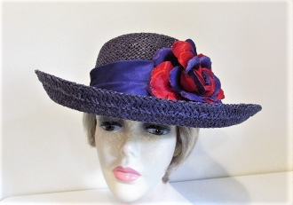 Gallant Purple Gambler Straw Hat