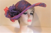 Precious Purple and Red - Braided Swinger Hat - Red Hat Ladies