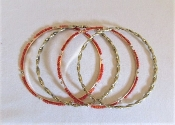 Four Gold Bangle Bracelets - Red Hatter Accessories