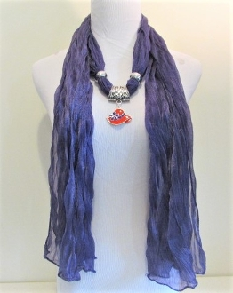 Red Hat Charm Purple Crinkle Scarf - Myredhatstore.com exclusive