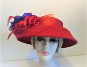 Radiant Red Felt Hat - Red Hat Society Colors