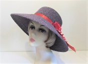 Practical Purple Bohemian Wool Red Hat Society Lady Hat