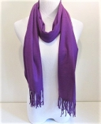 Purple Cashmere Feel Scarf - Red Hat Society Ladies
