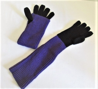 Purple Multi Function Gloves - Red Hat Society Ladies Gloves