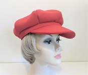 Red Wool Look Newsboy - Red Hat Society Ladies