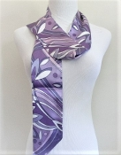 Purple Flower Pucci Style Scarf - Hat Band - Sash - Belt