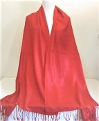 Red - Pashmina- Shawl - Scarf - Red Hat Society Lady Accessory