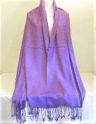 Purple - Pashmina- Shawl - Scarf - Red Hat Society Lady Accessory