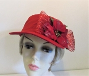 Holiday Red Cotton Baseball Cap - Red Hatters