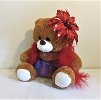 Holiday Too Too Cute Red Hat Bear - Red Hat Society Ladies