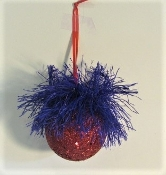 Red & Purple Glitzy Christmas Ornament - Package Decor