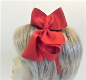 Red Hair Bow - Clip - Head Band - My Red Hat Store Exclusive