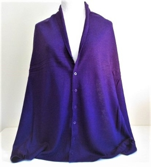 Purple Button - Sweater, Poncho, Scarf - Red Hat Lady Accessory