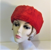 Faux Fur Headband - Earmuffs - Red Winter Accessory