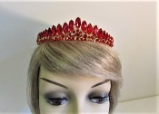 Red Rhinestone Tiara - Crown - Red Hat Society Queens Regalia
