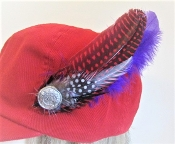 Feather Hat Decoration - Large - Red Hatters Accessory