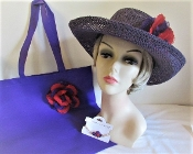 Gallant Purple Gambler Hat Ensemble - My Red Hat Store Exclusive