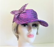 Blingy Butterfly Purple Visor