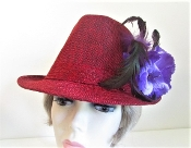 Feisty Fedora Red Hat - Red Hat Lady Colors