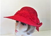 Blossom Bonnet - Ladies Red Hat