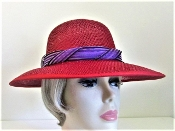 Beguiling Bonnet Red Straw Hat - Red Hat